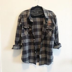 Dark Seas Urban Outfitters NWOT plaid flannel med